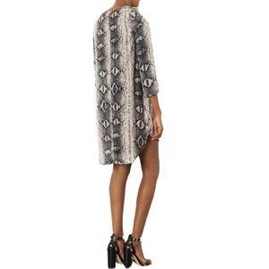 TOPSHOP • Women's Snakeskin Print Dress